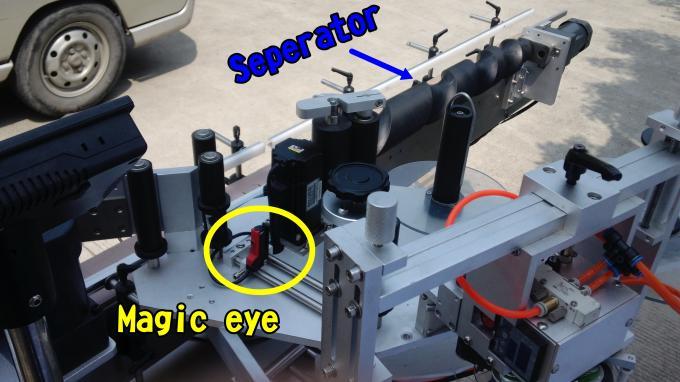 Kleepuv küünelakk Label Applicator Machine 220V 1,5HP 50 / 60HZ ümmarguste pudelite jaoks