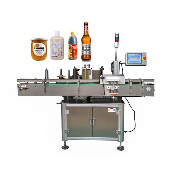 Umbes automaatse kleebise sildistamise masina lame ja ümmargune pudel