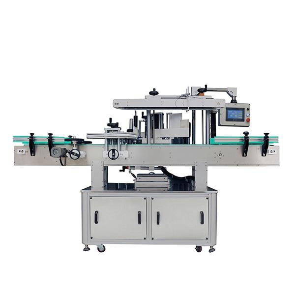 Automaatne kahepoolse kleebise märgistamise masin ovaalsete ja lamedate pudelite jaoks