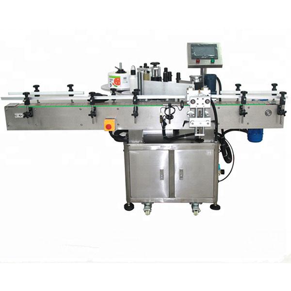 Automaatne kahepoolse kleebise sildistamise masin lame kandiline pudel ümmargune pudel