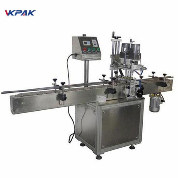 Tööstuslik kahepoolne ümmarguse pudeli märgistamise masin kosmeetikatoodete jaoks
