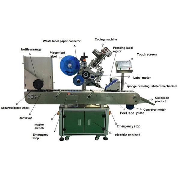 Farmaatsia viaali kleebise sildistamise masin 10-30 mm pudelite läbimõõt