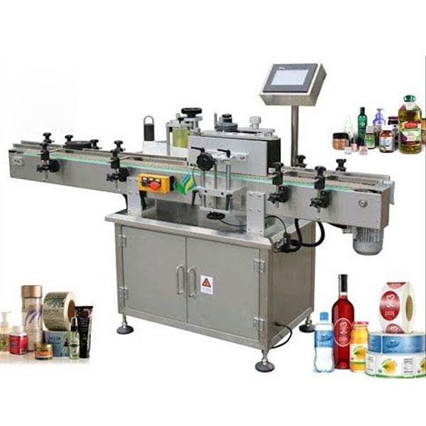 Ümmargune pudeli sildistamise masin, keerake siltide aplikaator ümber