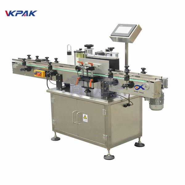 Ümmargune pudelikleebise sildistamise masin keerake etiketiprogrammi ümber