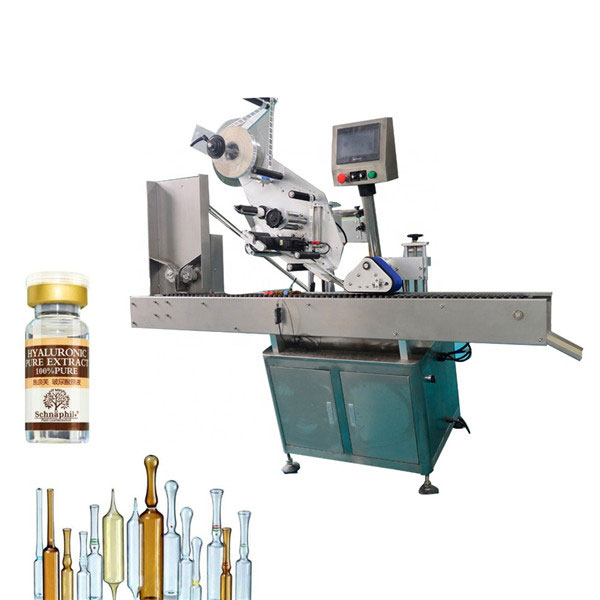 Väike ümmarguse pudeli viaali kleebise sildistamise masin 10 ml pudeli jaoks