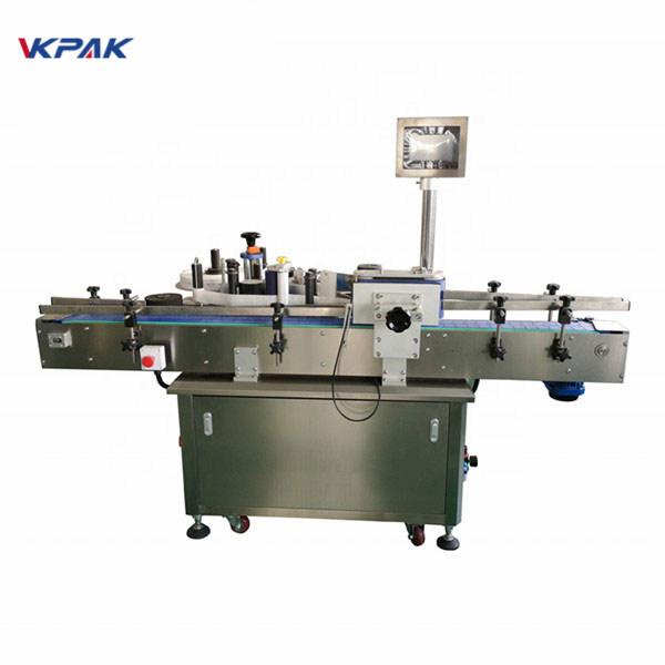 Standardne automaatne ümmargune pudeli sildistamise masin ees ja taga