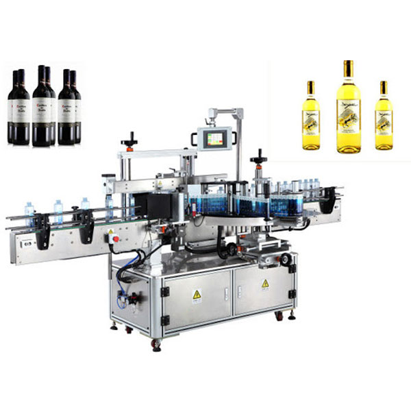 Veinipudeli etikettide paigaldamise masin, õllepudelite märgistaja