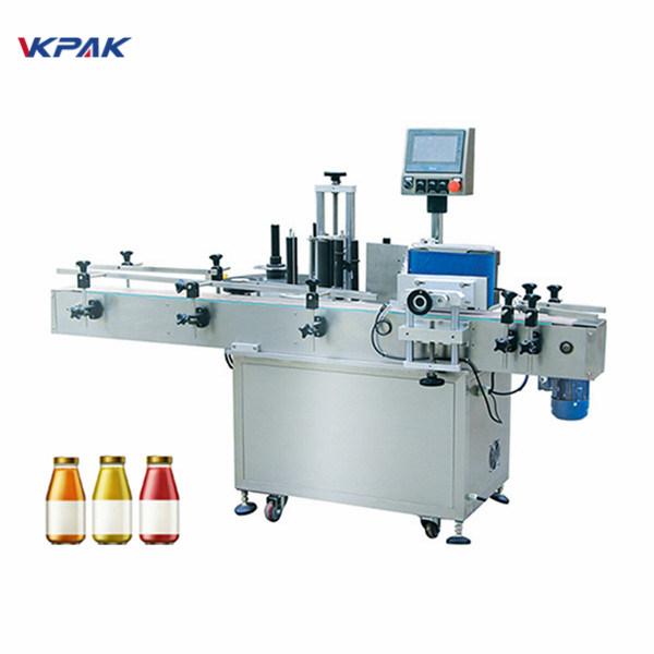 Veinipudel ühe külje automaatne ümmargune pudeli sildistamise masin