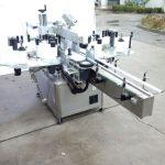 Automaatne kahepoolse kleebise sildistamise masin, millel on eesmine ja tagumine külg