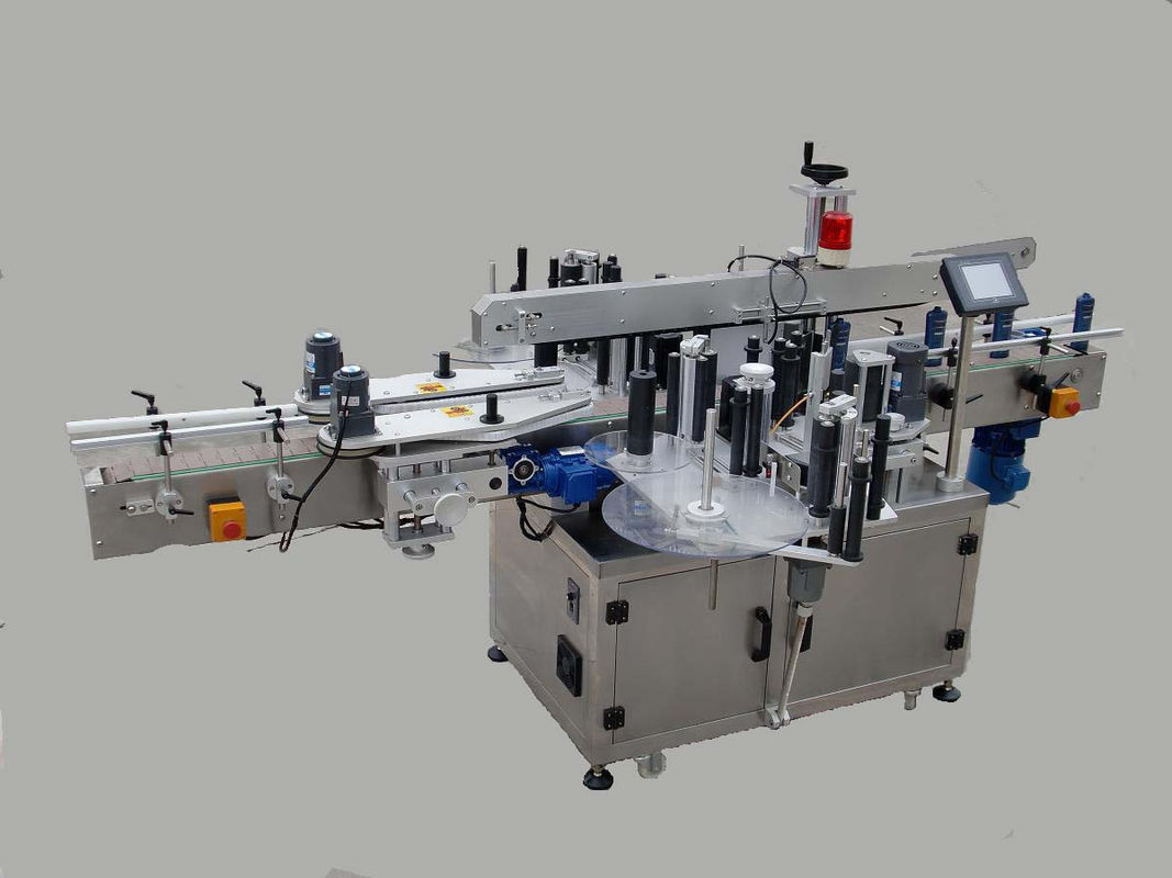 Automaatne kahepoolse kleebise märgistamise masin koos otsimisseadme ja kodeerimismasinaga