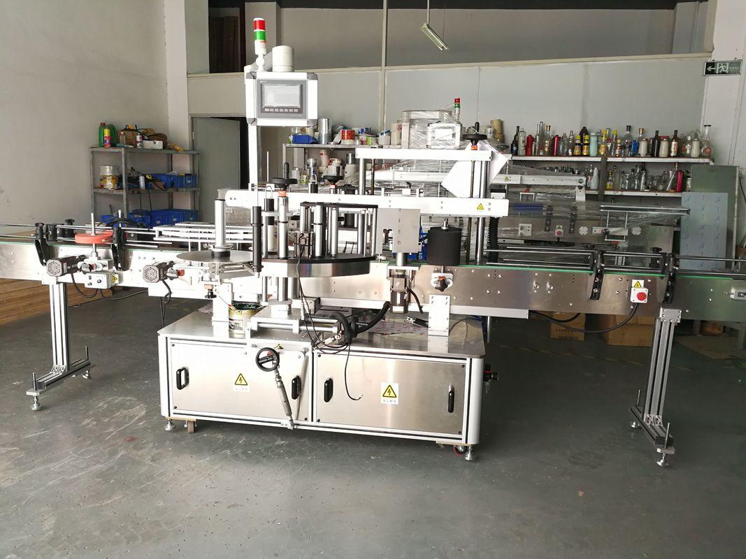 Ümmargune pudeli sildistamise masin / täisautomaatne lameda pinnaga siltide aplikaator