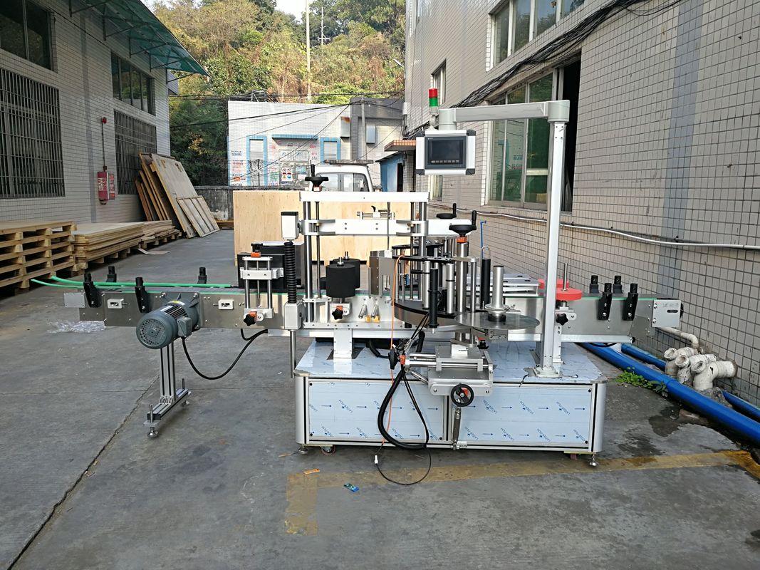 Automaatne kleebis lameda pudeli sildistamise masin integreeritud ees ja taga